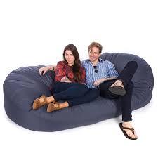 indoor bean bag sofa in navy for unique seat idea