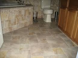 Brown Tiles Bathroom Pretty Bathroom Floor Tile Ideas In Black Color Combine With White