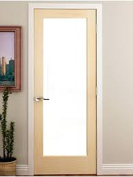 interior french doors with frosted glass internal door panels full lite primed single w 1 3