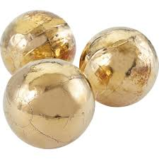 Orb Decorative Ball Decorative Orb in Gold Set of 100 Because It's Awesome liked on 78