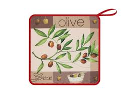 "Салфетка <b>кухонная</b> Soavita ""Оливки"", из микрофибры, цвет ..."