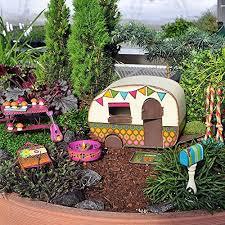 miniature fairy garden camper trailer
