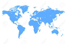 High Quality World Map High Quality Blue Simple Vector Map Of The World