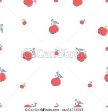 Apples To Apples Card Template Cute Seamless Pattern With Red Apples Background Hand Drawn