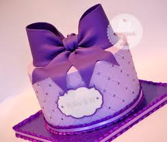 The Royal Bakery Giant Purple Bow Quilted Cake Original Design By