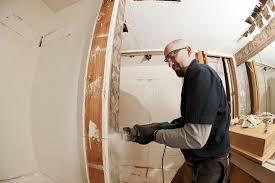 bathroom remodel contractor. master bathroom remodeling: painting in-progress remodel contractor e