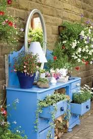 garden art projects. Dresser Turned Into A Garden. Creative Ways To Add Color And Joy Garden Art Projects
