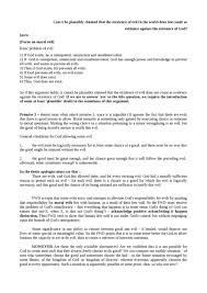 philosophy of religion notes oxbridge notes the united kingdom problem of evil essay plan