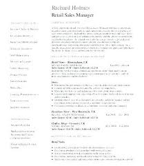 Retail Sales Manager Resume Datainfo Adorable Sales Director Resume