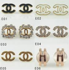 chanel earrings price. fashion classical noble chanel cc crystal earrings stud price r