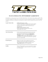Sponsorship Agreement Template Phone List Template