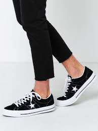 converse unisex. unisex one star sneakers in black premium suede converse