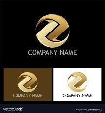 Z Logo Design Vector Gold Round Circle Letter Z Logo