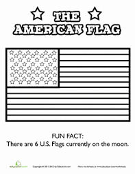Small Picture The American Flag Worksheet Educationcom