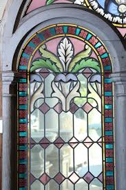 pair of large religious stained glass windows french in good condition for in houston