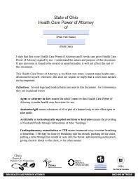 Health Care Power Of Attorney Form Ohio Minor Child Power Of Attorney Form Power Of Attorney Power 12