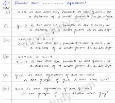 linear equations in two variables ex