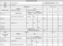 Fluid Balance Chart Audit Tool 73 Unique Fluid Balance Chart Template