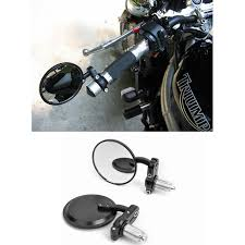 motorcycle 7 8 handle bar end side rearview rear mirrors cafe