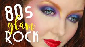80s glam rock makeup tutorial