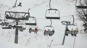 stock clip of ski lift chairs on winter day modern chair shutterstock