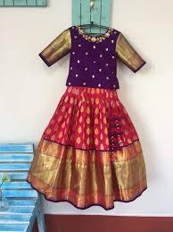 Full Blouse Designs For Children S Pattupavadai Designs Kids Blouse Designs Kids Dress