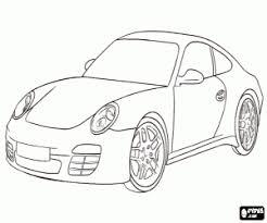 Kleurplaat De Beroemde Porsche Carrera Kleurplaten