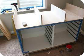 office work table with storage. office work table a bloggeru0027s makeover custom worktable using ikea with storage s