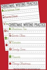Christmas Writing Practice Sheets - A Mom's Take