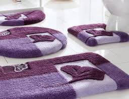 decorative bath rugs with purple color ideas for luxury bathroom layout