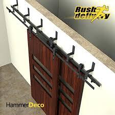 barn door rollers and track p s barn door track kit menards