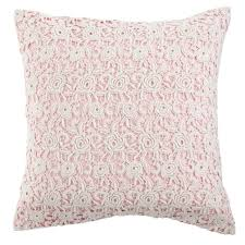 pink lace throw pillow  the land of nod