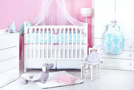 baby girl bedding sets pink and blue in rustic interior decor home with purple elephant