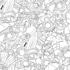 seamless abstract vector doodle background summer cartoon wallpaper ic pattern anti stress