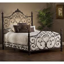 Metal Bedroom Furniture Baremore Iron Bed In Antique Bronze By Hillsdale Furniture