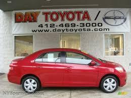 2007 Toyota Yaris Sedan in Barcelona Red Metallic - 182400 ...