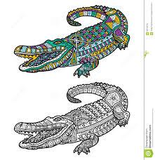 Crocodile Mignon Illustration De Vecteur Illustration Du Crocodile Dessin Crocodile Mignon Vector Illustration De Mignon Crocodile Zentangle Fleuri Pour Les Enfants L