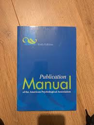 Psychology Publication Manual Apa Referencing