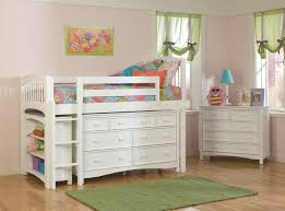 painted kids furniture. Decoration For Teenage Bedroom Splendid White Lil Girls Rooms Wooden Painted Kids Storage Loft Bed Twin Beds Added Chest Of Drawers Green Furniture G