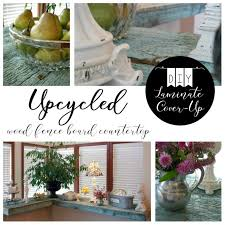 diy laminate cover up upcycled wood fence board countertop