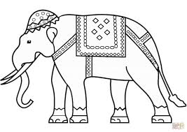 Indian Coloring Pages Print Out Luxury Indian Elephant Coloring