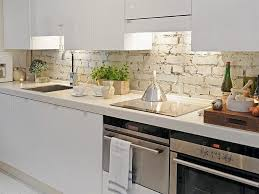 Brick Kitchen White Brick Kitchen Backsplash Compare Faux And Real Brick