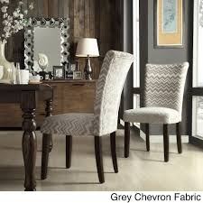 Inspire Q Catherine Print Parsons Dining Side Chair (Set of 2) (Grey Chevron