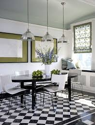 black and white tile floor kitchen. Black And White Tiled Flooring Is A Modern Addition To This Kitchen Designed By Jessica Lagrange Tile Floor C