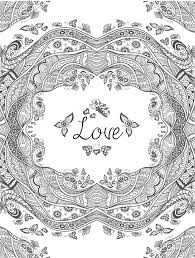 Free Download Coloring Pages About Love