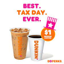 I'm going to try a medium iced dark with cream. Relieve Tax Day Tension With 1 Medium Hot Or Iced Coffee From Dunkin Dunkin