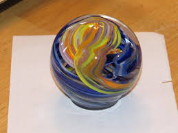 hands on glass studio paper weight that i made
