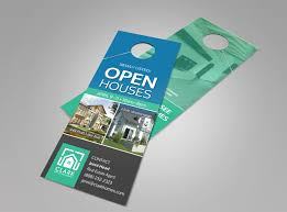 real estate door hanger templates. Newly Listed Open House Door Hanger Template Real Estate Templates