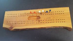 details about wooden handmade cribbage board