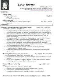 Perfect Decoration Music Teacher Resume Sample Music Teacher Resumes